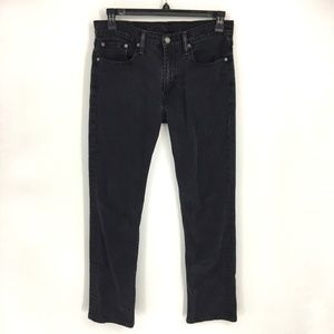 Levi's 514 Mens 32x32 Stretch Black Straight Jeans